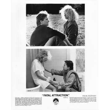 ATTRACTION FATALE Photo de presse CS - 20x25 cm. - 1987 - Michael Douglas, Glenn Close, Adrian Lyne