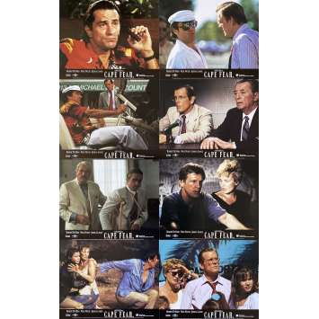 CAPE FEAR Original Lobby Cards x8 - 8x10 in. - 1995 - Martin Scorsese, Robert de Niro