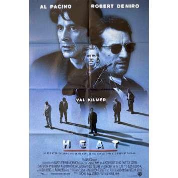 HEAT Affiche de film- 69x102 cm. - 1995 - Robert de Niro, Al Pacino, Michael Mann