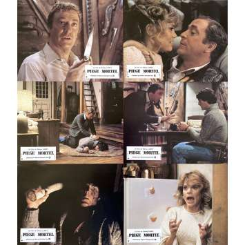 DEATHTRAP Original Lobby Cards x6 - 9x12 in. - 1982 - Sidney Lumet, Michael Caine, Christopher Reeve