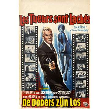 A BOUT PORTANT Affiche de film- 35x55 cm. - 1964 - Lee Marvin, Don Siegel