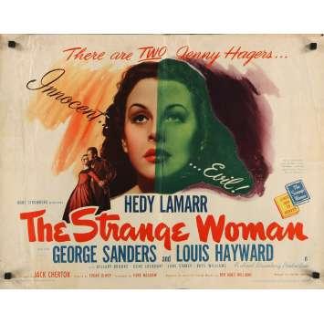 THE STRANGE WOMAN Original Movie Poster- 21x28 in. - 1946 - Edgar G. Ulmer, Hedy Lamarr, George Sanders
