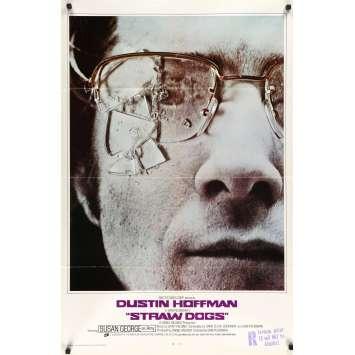 LES CHIENS DE PAILLE Affiche de film- 69x102 cm. - 1971 - Dustin Hoffman, Sam Peckinpah