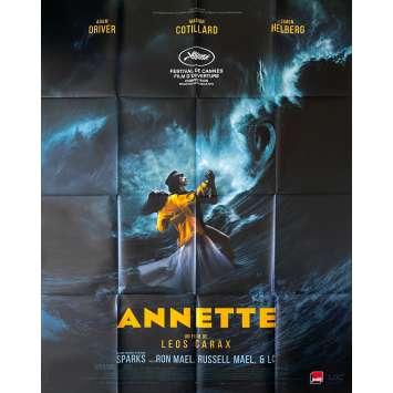 ANNETTE Original Movie Poster- 47x63 in. - 2021 - Leos Carax, Adam Driver