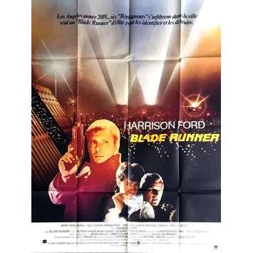 BLADE RUNNER French Movie Poster- 47x63 in. - 1982 - Ridley Scott, Harrison Ford