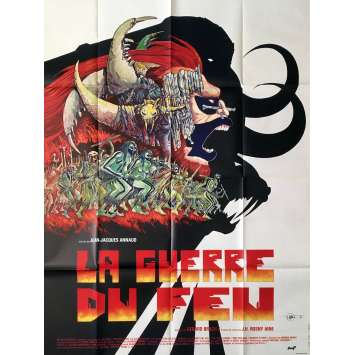 LA GUERRE DU FEU Affiche de film Style A - 120x160 cm. - 1981 - Ron Perlman, Jean-Jacques Annaud