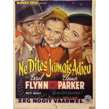 NE DITES JAMAIS ADIEU Affiche de film- 35x55 cm. - 1956 - Rock Hudson, Jerry Hopper