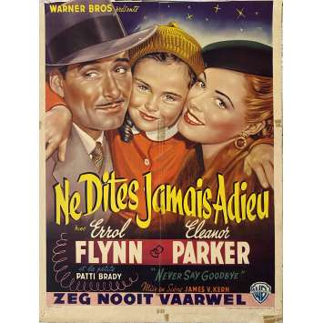 NEVER SAY GOODBYE Original Movie Poster- 14x21 in. - 1956 - Jerry Hopper, Rock Hudson