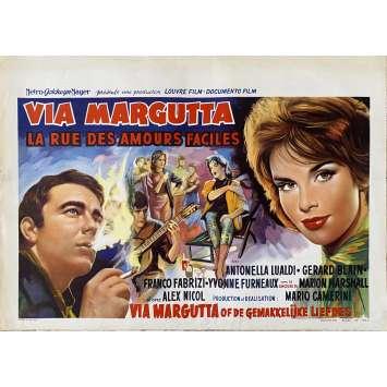 VIA MARGUTTA Original Movie Poster- 14x21 in. - 1960 - Mario Camerini, Antonella Lualdi
