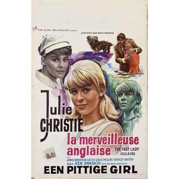 LA MERVEILLEUSE ANGLAISE Affiche de film- 35x55 cm. - 1962 - Julie Christie, Ken Annakin