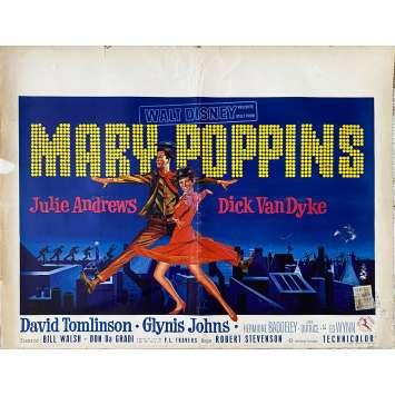 MARY POPPINS Affiche de film- 35x55 cm. - 1964 - Julie Andrews, Robert Stevenson