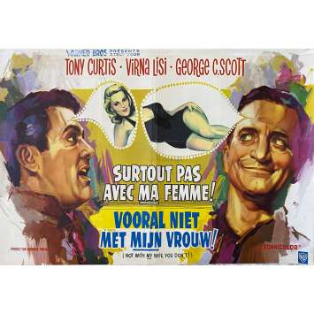 NOT WITH MY WIFE, YOU DON'T Original Movie Poster- 14x21 in. - 1966 - Norman Panama, Tony Curtis