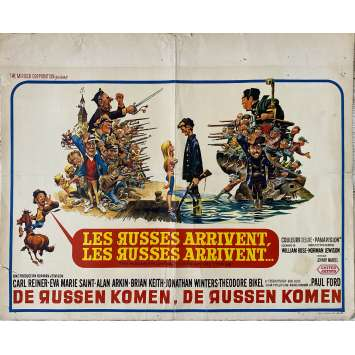THE RUSSIANS ARE COMING Original Movie Poster- 14x21 in. - 1966 - Norman Jewison, Carl Reiner
