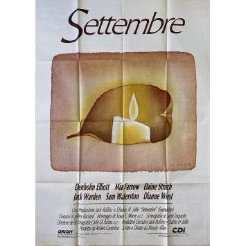 SEPTEMBER Affiche de film Italienne- 100x140 cm. - 1987 - Elaine Stritch, Woody Allen