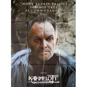 KAAMELOTT Original Movie Poster Horsa - 47x63 in. - 2021 - Alexandre Astier, Sting