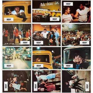 AMERICAN GRAFFITI Original Lobby Cards x12 - 9x12 in. - 1973 - George Lucas, Richard Dreyfuss