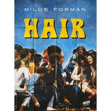 HAIR Original Movie Poster- 47x63 in. - R1980 - Milos Forman, John Savage
