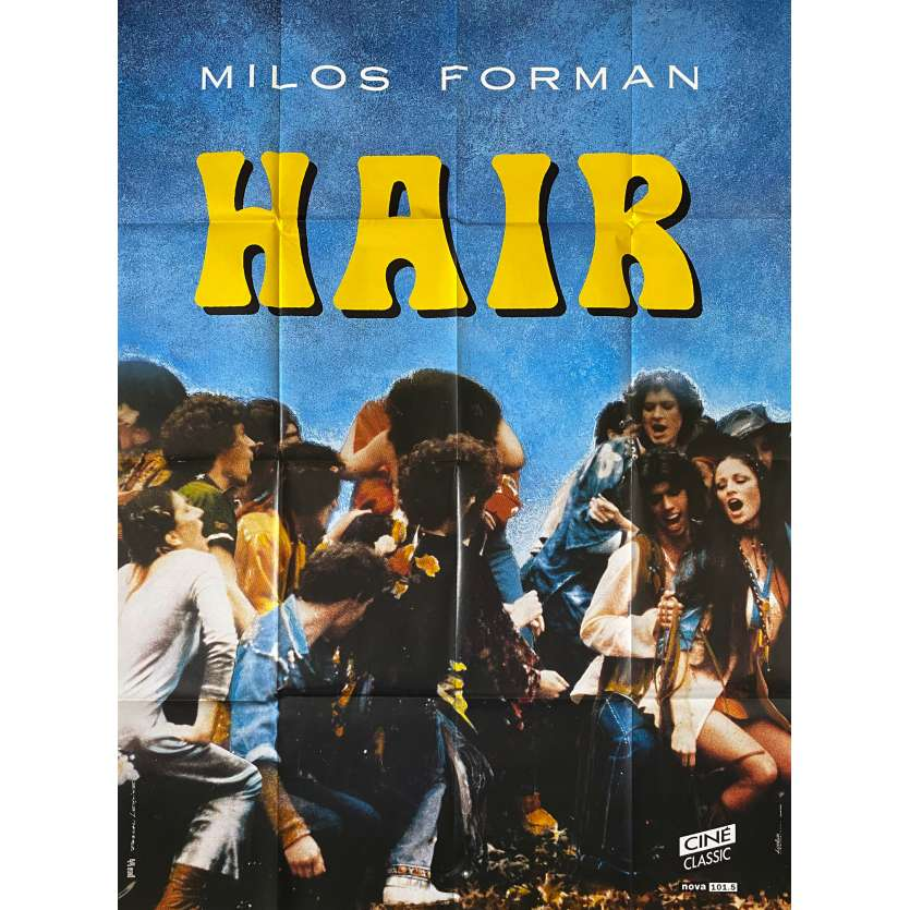 HAIR Affiche de film- 120x160 cm. - R1980 - John Savage, Milos Forman