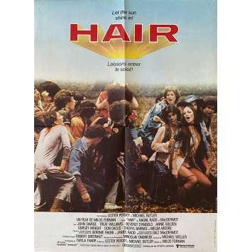 HAIR Original Movie Poster- 15x21 in. - 1979 - Milos Forman, John Savage