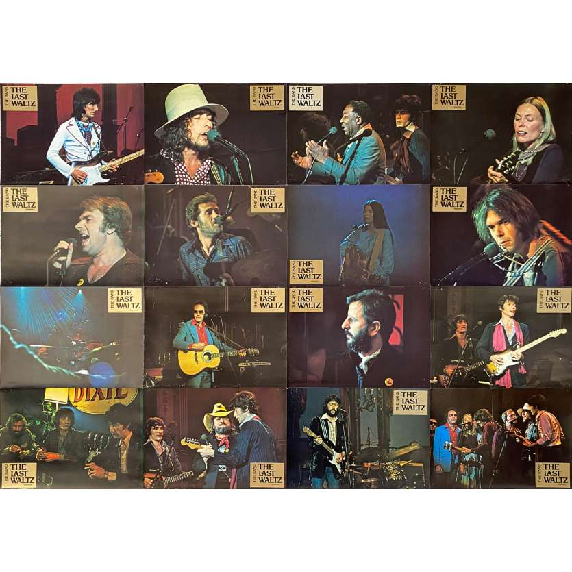 THE LAST WALTZ Original Lobby Cards X16 - 9x12 in. - 1978 - Martin Scorsese, The Band