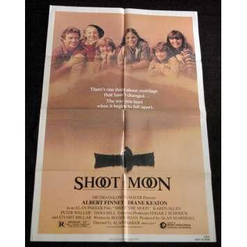 SHOOT THE MOON Affiche US '85 Alan Parker, Albert Finney Vintage Movie Poster