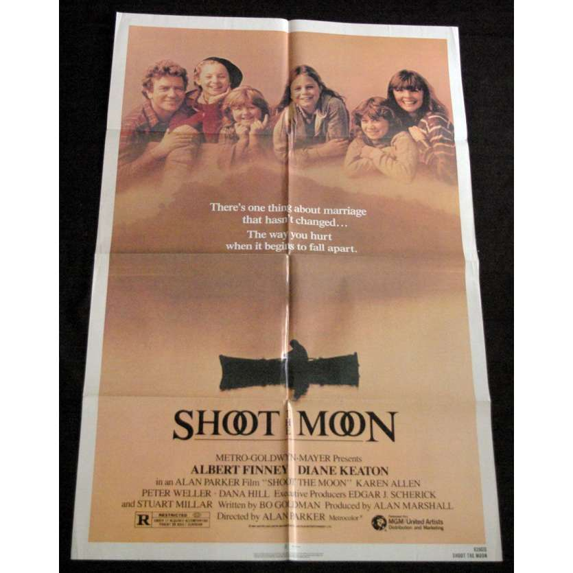 SHOOT THE MOON Affiche US '85 Alan Parker, Albert Finney Vintage Movie Poster