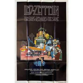 THE SONG REMAINS THE SAME Original Movie Poster- 27x41 in. - 1976 - Led Zeppelin, Robert Plant, Jimmy Page