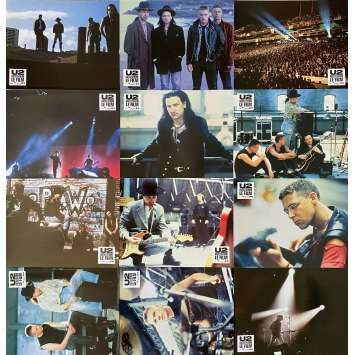 U2 RATTLE AND HUM Original Lobby Cards x12 - 9x12 in. - 1988 - Phil Joanou, Bono, The Edge