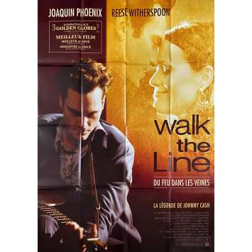 WALK THE LINE Affiche de film- 120x160 cm. - 2005 - Joaquim Phoenix, James mangold