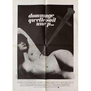 DOMMAGE QU'ELLE SOIT UNE PUTAIN Affiche de film- 60x80 cm. - 1971 - Charlotte Rampling, Giuseppe Patroni Griffi