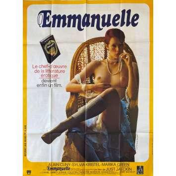 EMMANUELLE Affiche de film- 120x160 cm. - 1974 - Sylvia Kristel, Just Jaeckin