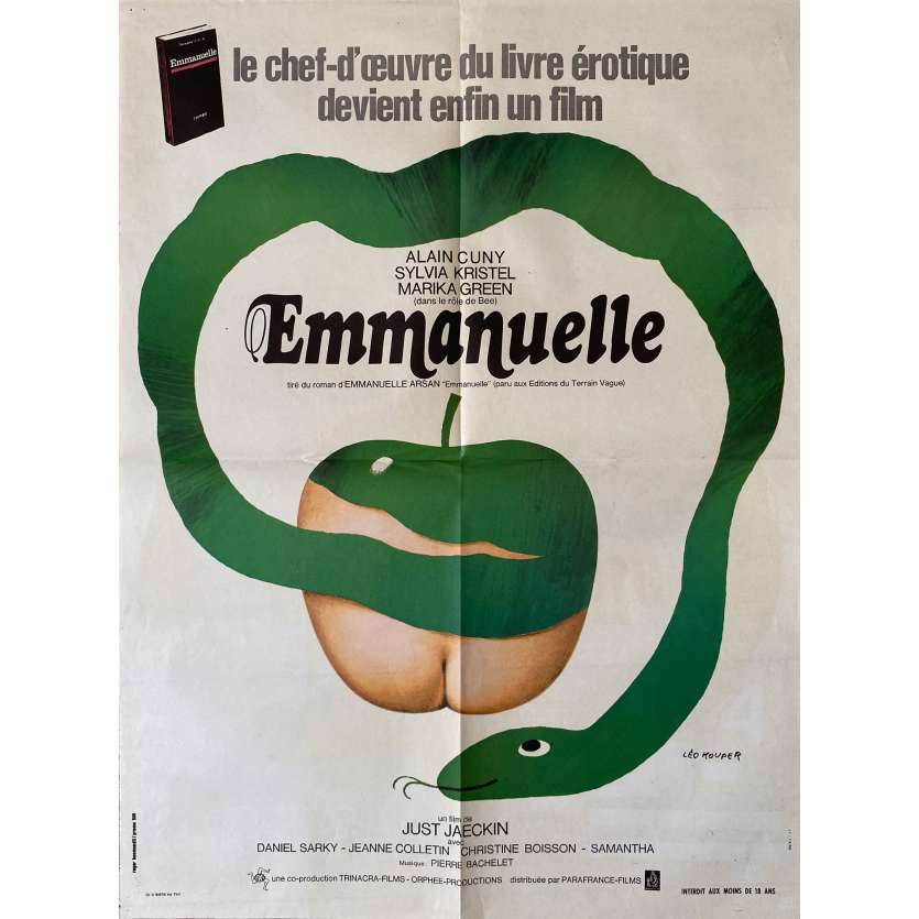 EMMANUELLE Original Movie Poster- 23x32 in. - 1974 - Just Jaeckin, Sylvia Kristel