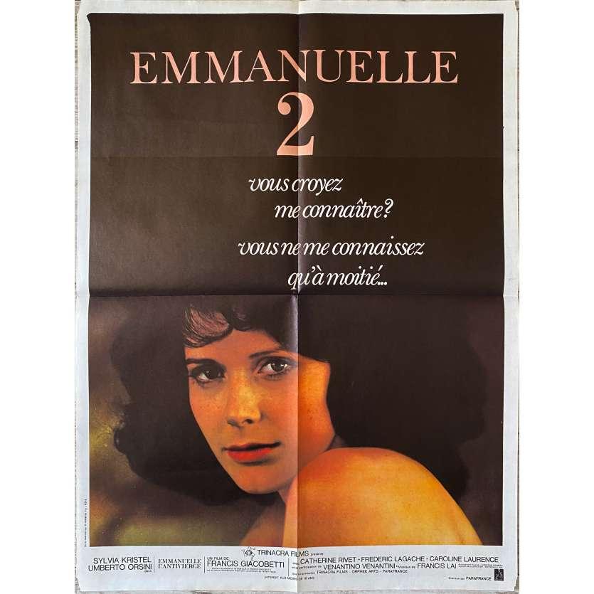 EMMANUELLE 2 Original Movie Poster- 23x32 in. - 1975 - Francis Giacobetti, Sylvia Kristel
