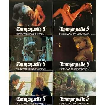 EMMANUELLE 5 Original Lobby Cards X6 - 9x12 in. - 1987 - Walerian Borowczyk, Monique Gabrielle