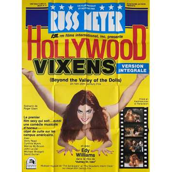 HOLLYWOOD VIXEN / LA VALLEE DES PLAISIRS Affiche de film- 120x160 cm. - 1970 - Dolly Read, Cynthia Myers, Russ Meyer