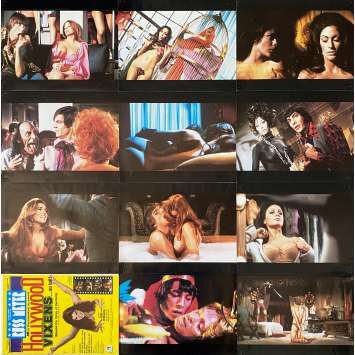 BEYOND THE VALLEY OF DOLLS Original Lobby Cards X12 - 9x12 in. - 1970 - Russ Meyer, Dolly Read, Cynthia Myers