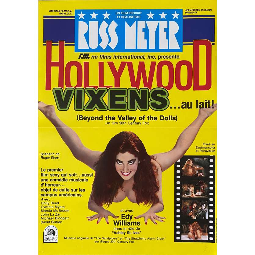 BEYOND THE VALLEY OF DOLLS Original Movie Poster- 15x21 in. - 1970 - Russ Meyer, Dolly Read, Cynthia Myers