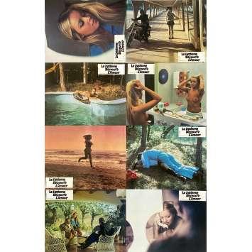 LA LYCEENNE DECOUVRE L'AMOUR Photos de film X8 - 21x30 cm. - 1974 - Gloria Guida, Mario Imperoli
