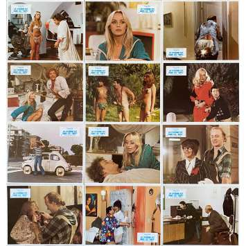 LA LYCEENNE EST DANS LES VAPES Photos de film x12 - 21x30 cm. - 1979 - Gloria Guida, Nando Cicero