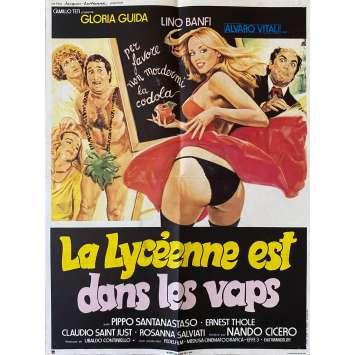 LA LYCEENNE EST DANS LES VAPES Affiche de film- 40x60 cm. - 1979 - Gloria Guida, Nando Cicero