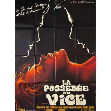LA POSSEDEE DU VICE Affiche de film- 120x160 cm. - 1970 - Nadia Cassini, Piero Vivarelli