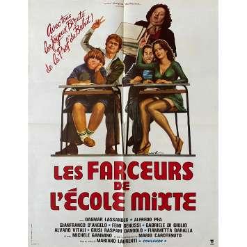 LA PROF ET LES FARCEURS DE L'ECOLE MIXTE Affiche de film- 60x80 cm. - 1976 - Franco Mercuri, Mariano Laurenti