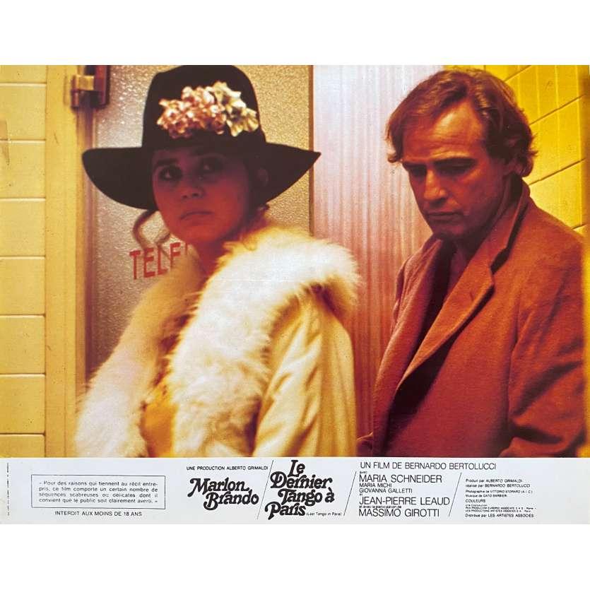 LAST TANGO IN PARIS Original Lobby Card N1 - 9x12 in. - 1972 - Bernardo Bertolucci, Marlon Brando