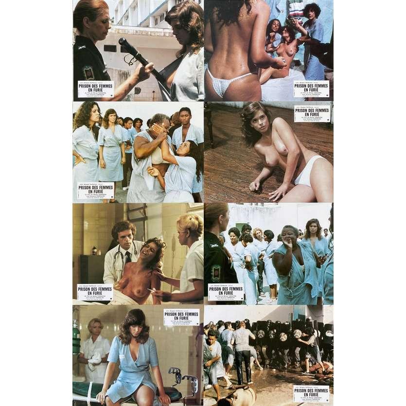 PRISON DES FEMMES EN FURIE Photos de film X8 - 21x30 cm. - 1984 - Suzane Carvalho, Michele Massimo Tarantini
