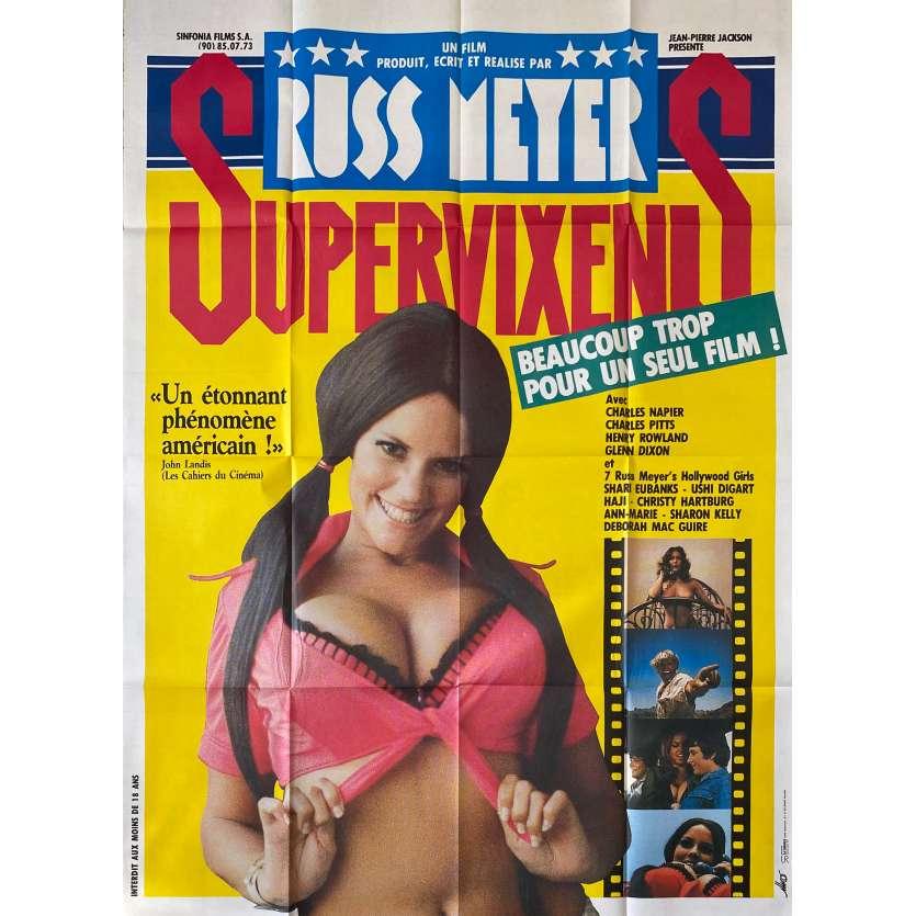 SUPERVIXENS Original Movie Poster- 47x63 in. - 1975 - Russ Meyer, Charles Napier