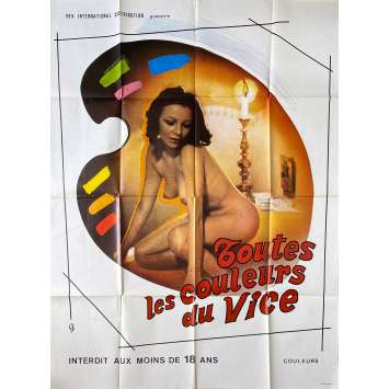 ALL THE COLORS OF THE DARK Original Movie Poster- 47x63 in. - 1972 - Sergio Martino, Edwige Fenech