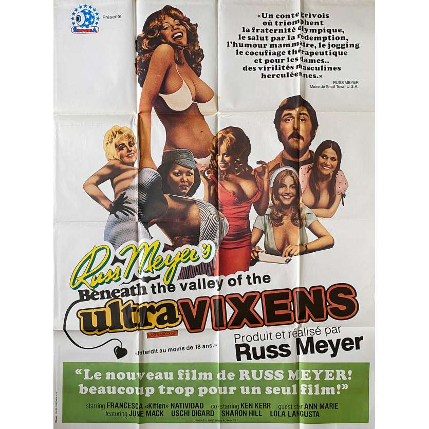 BENEATH THE VALLEY OF ULTRA-VIXENS Original Movie Poster- 47x63 in. - 1979 - Russ Meyer, Kitten Natividad