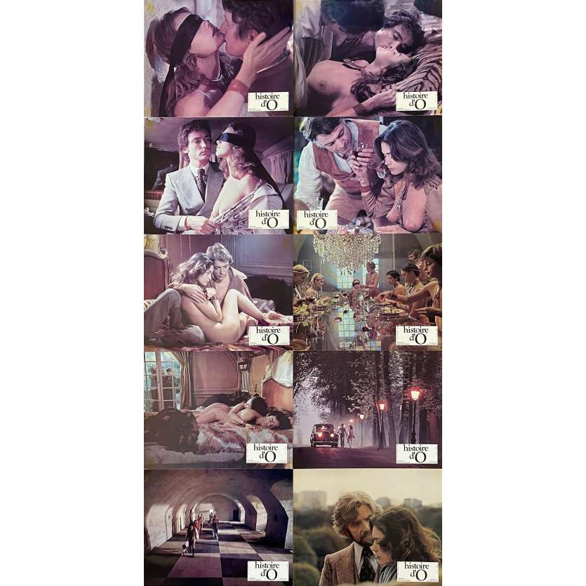 THE STORY OF O Original Lobby Cards X10 - 9x12 in. - 1975 - Just Jaeckin, Corinne Cléry