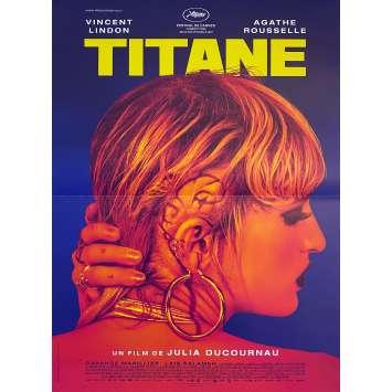 TITANE Affiche de film Pré-Cannes - 40x60 cm. - 2021 - Vincent Lindon, Agathe Rousselle, Julia Ducournau