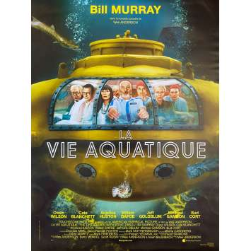 THE LIFE AQUATIC WITH STEVE ZISSOU Original Movie Poster- 15x21 in. - 2004 - Wes Anderson, Bill Murray